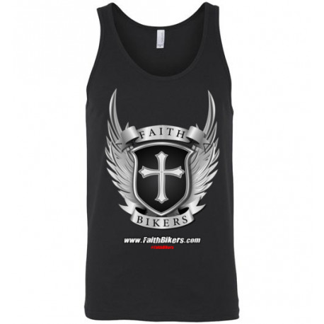 (SALE!) FaithBikers.com Shield and Wings Branded Logo Tank Top (Unisex)