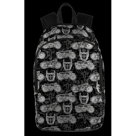All Over Print Backpack - Black Design