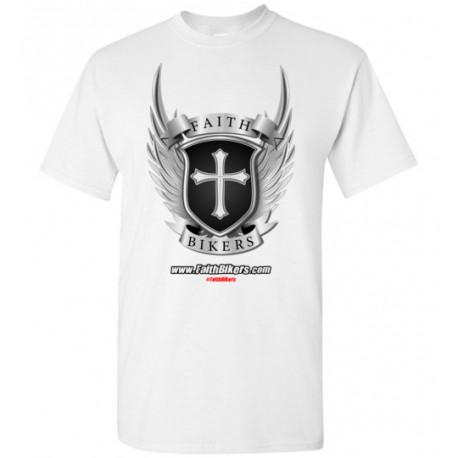 (SALE!) FaithBikers.com Shield and Wings Logo T-Shirt