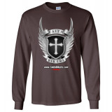 (SALE!) FaithBikers.com Shield and Wings Logo Long Sleeve T-Shirt