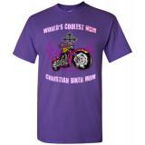 (SALE) World's Coolest Christian Biker Mom! Standard Fit T-Shirt