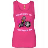 (SALE) World's Coolest Christian Biker Mom! Women's Fit Tank Top