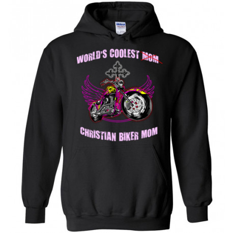 (SALE) World's Coolest Christian Biker Mom! Women's Hoodie