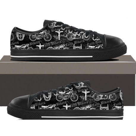 "Women's Faith Bikers Original ""Christian Biker"" Low Top Canvas Shoes"