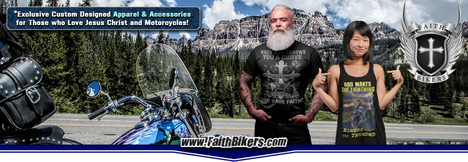 Shop Now! 100% Unique Christian Biker Clothing, Apparel & Accessories!