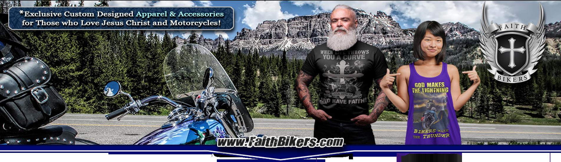 Shop Now! 100% Unique Christian Biker Clothing, Apparel & Accessories!