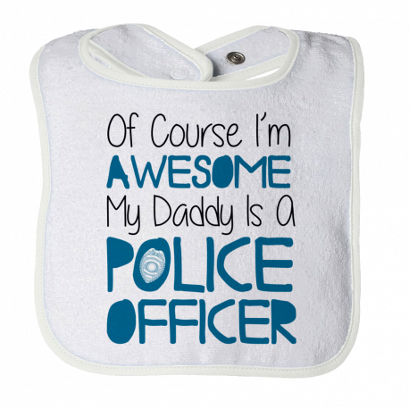 Funny Bib Birthday Gift For 1 Year Old Baby Kid Infant From Mom Police Dad