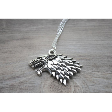 Game of Thrones Wolf Pendant Necklace