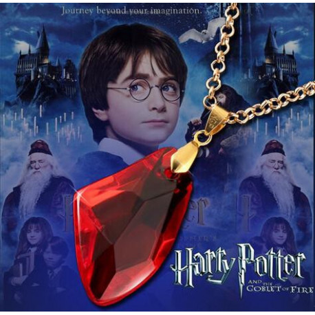 Harry Potter Necklace The Sorcerer's Red Crystal Magic Philosophers Stone
