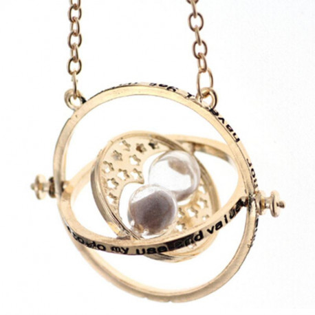 Harry Potter Time Turner Gold Pendant Necklace for Women