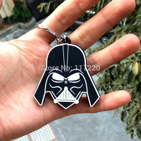 Star Wars Darth Vader Black Metal & Silver Car/House Keychain