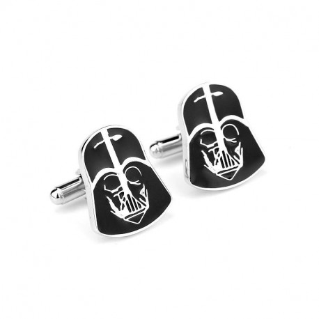 Star Wars Darth Vader Mens Silver/Black Cufflinks