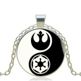 Star Wars Darth Vader Stormtrooper Metal Silver Pendant Necklace