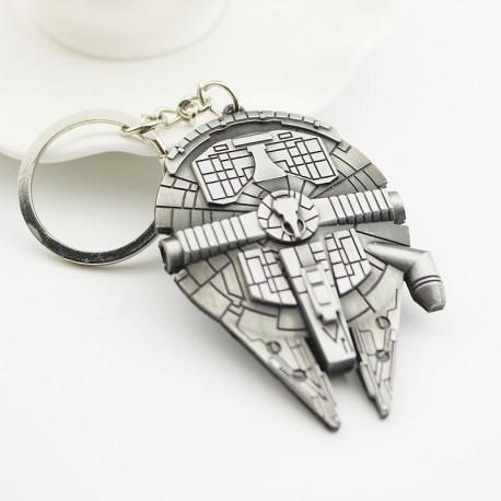 Star Wars Han Solo Millennium Falcon Metal House/Car Keyring