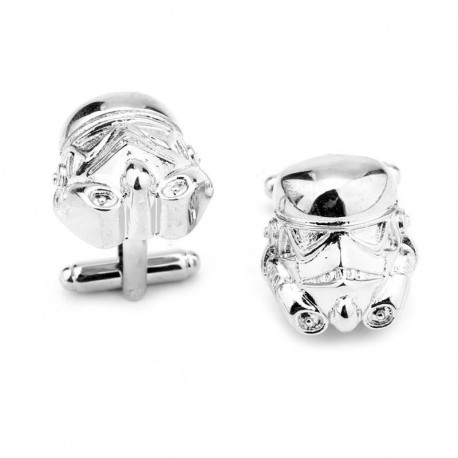Star Wars Mens Stormtrooper Silver Cuff Links