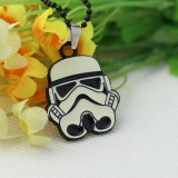 Star Wars Stormtrooper Silver/Black Metal Pendant Necklace