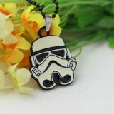 Star Wars Stormtrooper Silver/Black Metal Pendant Necklace