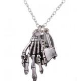 The Walking Dead Hands Cross Bow Pendant Necklace