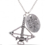 The Walking Dead Hands Cross Bow Pendant Necklace