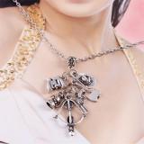 The Walking Dead Silver Metal Skeleton, Crossbow & Hatchet Necklace