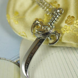The Walking Dead Sword Silver Pendant Necklace