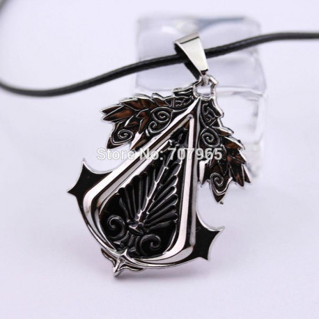 Assassins Creed Necklace Pendant Cosplay Choker Silver Zinc Alloy Unisex