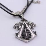 Assassins Creed Necklace Pendant Cosplay Choker Silver Zinc Alloy Unisex