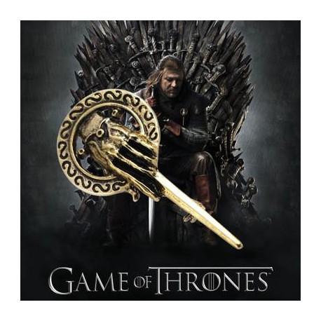 Game of Thrones Bronze Alloy Metal Skeleton Hand Brooche