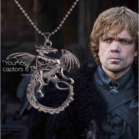 Game of Thrones Dragon Silver Metal Pendant Necklace