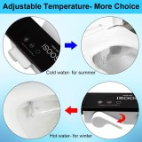 Ultra Thin Non-Electric Toilet Seat Bidet Attachment Hot/Cold Adjustable Sprayer