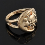Game of Thrones Gold - Silver or Bronze Sun Moon Ring