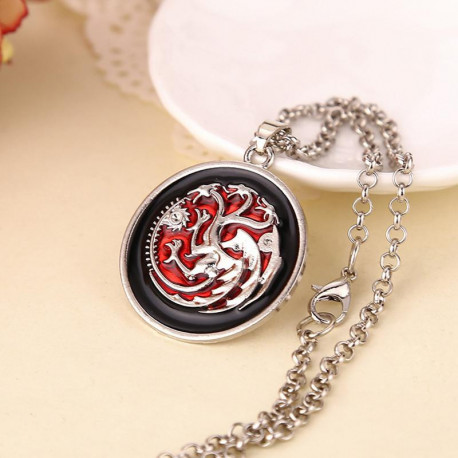Game of Thrones Red Dragon Pendant Necklace