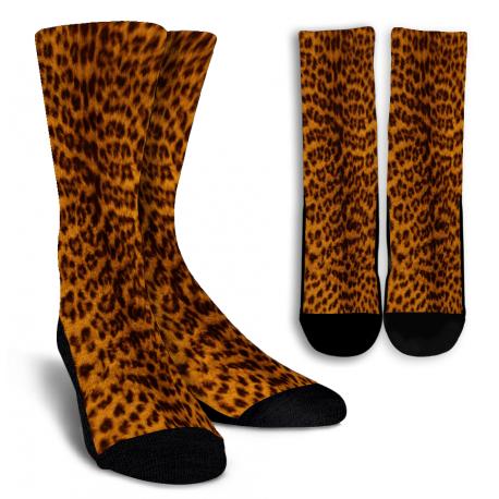 Cheetah SkinCrew Socks