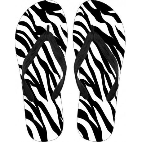 Zebra Flip Flops