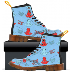 Yoga Cat - Womens Canvas Boots