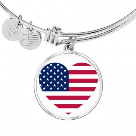 I Love USA - Stainless Bangle