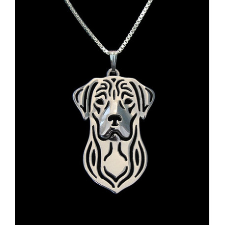 Handmade Silver plated Labrador Pendant Free