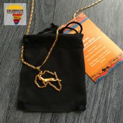 Springbok Africa necklace