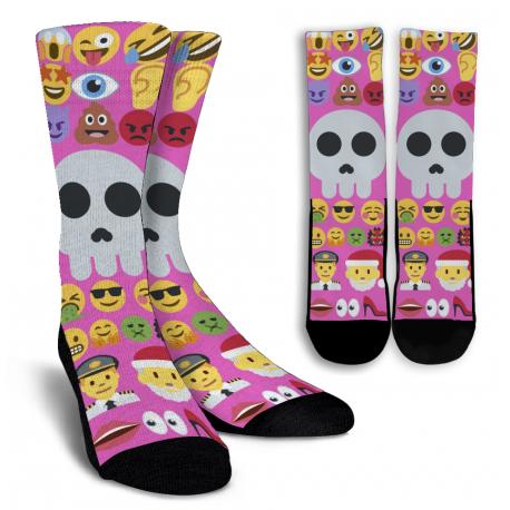 Pink Emoji Socks