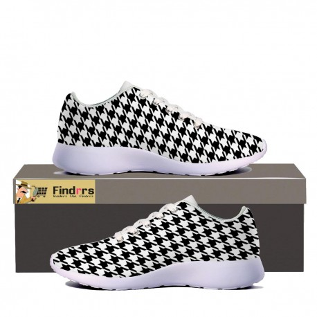 Black Houndstooth Sneaker