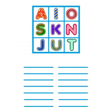 Letters In A Box - Fancy Blue - AIOSKNJUT