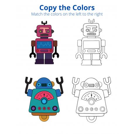 Copy the Colors - Robots Volume 1