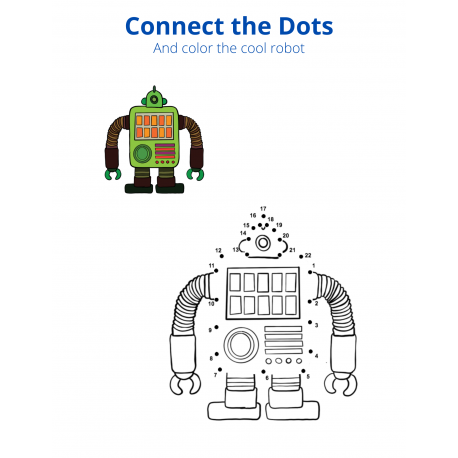 Connect the Dots and Color - Robot 1