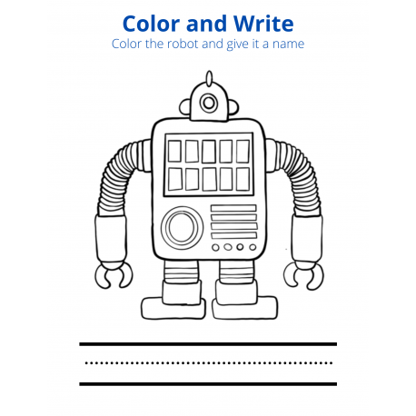 Color and Write - Robot 1