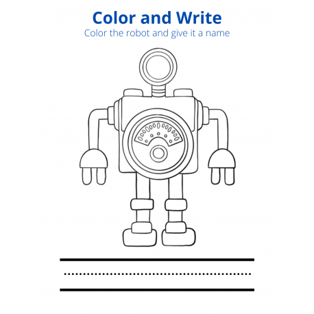 Color and Write - Robot 2