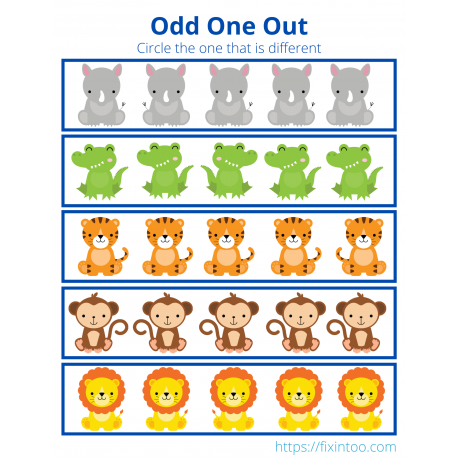 Odd One Out - African Animals 1