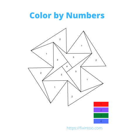 Color by Numbers Mandala - 1