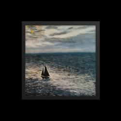 "Framed Print  ""Moon Light Sailing"""