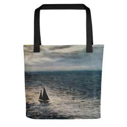 "Tote Bag  ""Moon Light Sailing"""