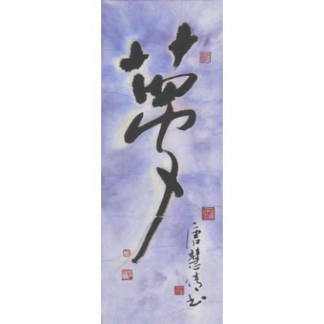 "Chinese Calligraphy ""Dream"""